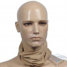 Шарф труба многофункциональная беж (100% Polyester)