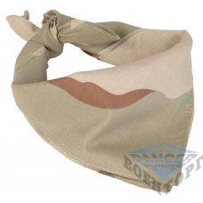 Бандана-шарф камуфляж 3-цветный пустынный 53,5х53,5 (100% хлопок)