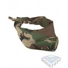 Бандана-шарф камуфляж woodland 53,5х53,5 (100% хлопок)