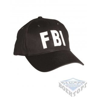 Бейсболка черная FBI (100% хлопок)