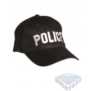Бейсболка черная POLICE (100% хлопок)