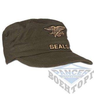 Кепка стилизованная армейская США SEALS олива (100% хлопок)