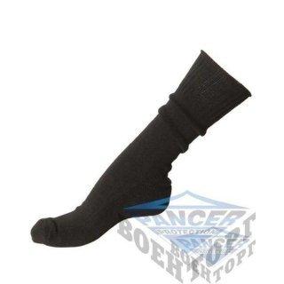 US BLACK SOCKS WITH CUSHION SOLE (50% Wool, 30% Cotton, 20% Nylon)