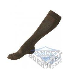 Носки высокие COOLMAX олива (63% Polyester (Coolmax), 35% Cotton, 2% Elastan)