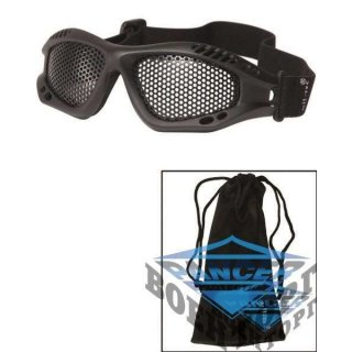 BLACK TACTICAL GOGGLE WITH NET LENS