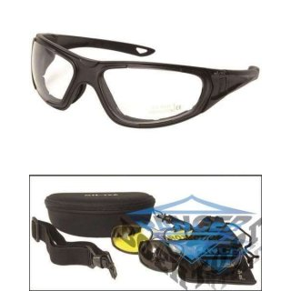 BLACK TACTICAL GOGGLE 3IN1