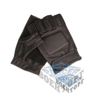 Перчатки кожаные Security с демпфером беспалые