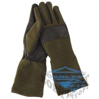 Перчатки кожаные/Nomex by DuPont™ COMBAT олива
