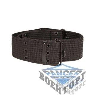 Пояс US LC1 PISTOL BELT черный (5,5 см, 100% хлопок, метал застежка)