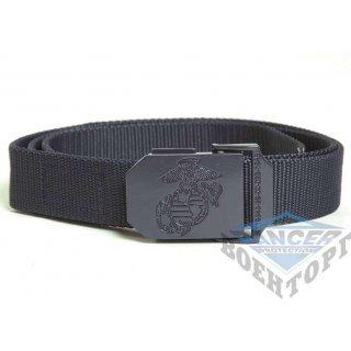 Пояс брючный WEB BELT лого USMC темно-синий (100% Polyester, 3см)