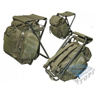Рюкзак-стул 20л (42х25х14) олива