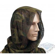 Сетка-шарф маскировочная камуфляж woodland 190х90 см (65% полиэстер/35% хлопок)
