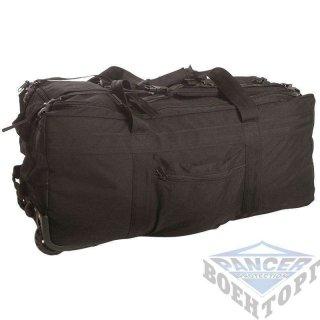 Сумка транспортная COMBAT DUFFLE BAG на колесиках (78х37х37) черная