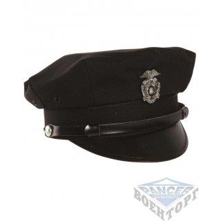 Фуражка полицейская US VISOR HAT черная