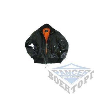 Куртка лётная кожаная черная БУНДЕС