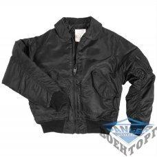 Куртка летная US CWU FLIEGERJACKE TEESAR черная
