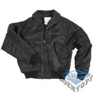 """Куртка летная US CWU FLIEGERJACKE TEESAR&""""""""#174; черная"""