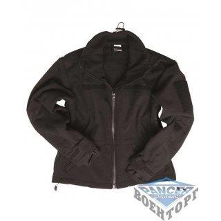 Куртка флисовая ветрозащитная WINDPROOF JACKE FLEECE черная