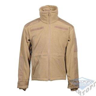 Куртка флисовая ветрозащитная WINDPROOF JACKE FLEECE койот