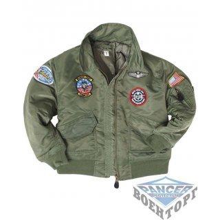 Куртка летная детская OD CWU KIDS FLIGHT JACKET W. PATCHES