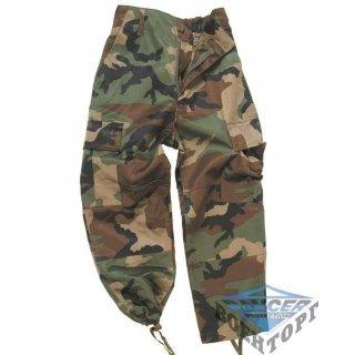 Детские камуфляжные брюки US WOODLAND KIDS BDU STYLE PANTS