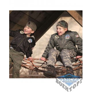 """Куртка летная детская MA1&""""""""#174; KIDS FLIGHT JACKET W. PATCHES черная"""