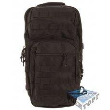 Рюкзак тактический на одну лямку черный
