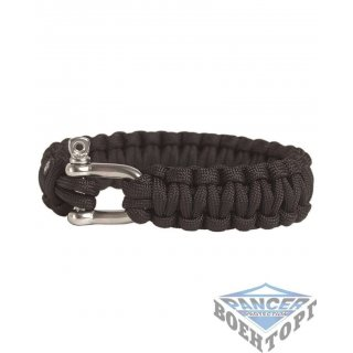 Браслет паракорд 22MM PARA BRACELET W.METAL CLOSURE черный
