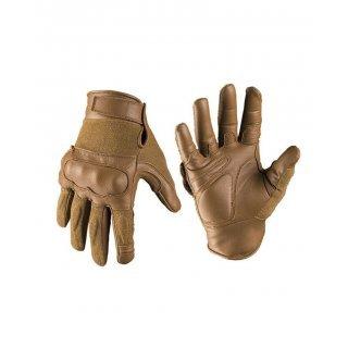Тактические перчатки из кожи Aramid Mil-Tec тёмный койот