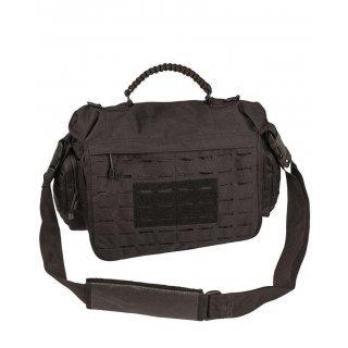 Тактическая сумка из паракорда  большая Милтек черная