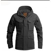 Куртка милитари м65 черная под пистолет Soft Shell