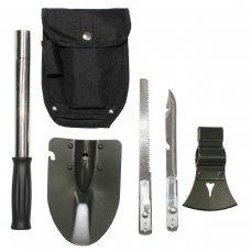 Многофункциональный набор 5 в 1 (лопата, нож, пила, топор, молоток), MFH