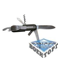 Нож многофункциональный с ложкой и фонариком