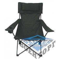 Стул складной с подлокотником, подушкой и подстаканником, MFH De Lux