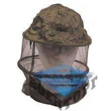 Шляпа с антимоскитной сеткой US mosquito head net , olive , metal ring , as new