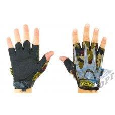 Тактические беспалые перчатки MECHANIX камуфляж