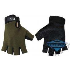 Тактические беспалые перчатки 5,11 . олива