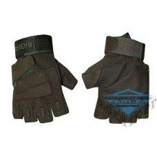 Тактические беспалые перчатки олива