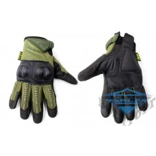 Тактические перчатки Mechanix M-Pact с кастетом олива