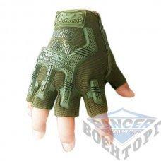 Тактические беспалые перчатки MECHANIX олива