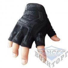 Тактические беспалые перчатки MECHANIX черные