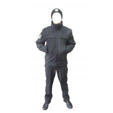 Костюм из softshell для полиции черный