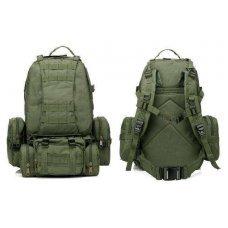 Рюкзак с подсумками олива на 55л