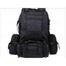 Рюкзак с подсумками черный на 55л