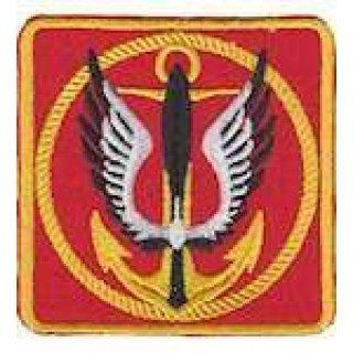Шеврон Морська піхота якорь квадрат красный