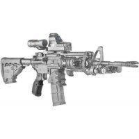 Пістолетна Рукоятка FAB Defense AGR-43 прогумована для M4/M16/AR15. Колір - чорний