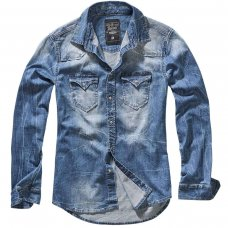 Рубашка Brandit Riley Denim BLUE