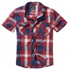 Рубашка Brandit Roadstar RED-NAVY-WHITE