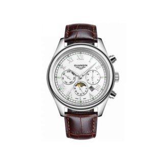 Часы Guanqin Silver-White-Brown GQ12001-2A CL
