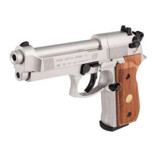 Пистолет Umarex Beretta 92 FS Nickel/wood